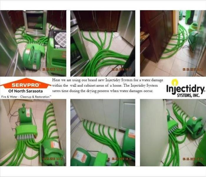 Water Damage SERVPRO's Injectidry System