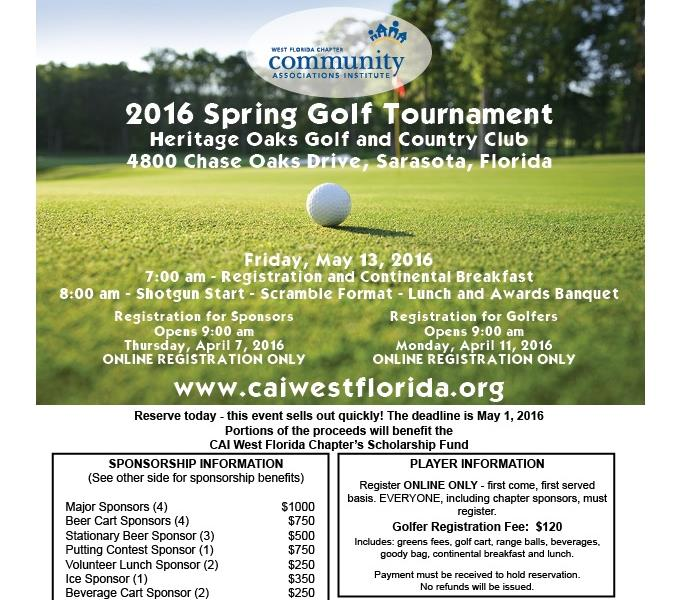 General SERVPRO of North Sarasota Partners with CAI in Golf Tournament